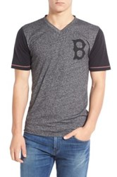 American Needle Boston Red Sox Onyx Trim Fit V Neck Tee Black