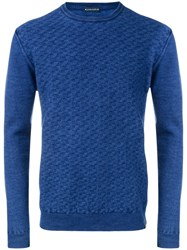 Jacob Cohen Textured Knit Sweater Blue