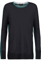 Rag And Bone Verity Two Tone Cashmere Sweater Midnight Blue