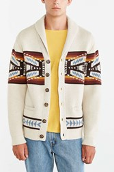 Pendleton Button Shawl Cardigan Brown