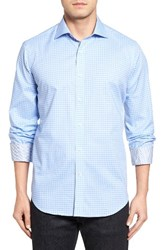 Bugatchi Men's Classic Fit Circle Check Sport Shirt