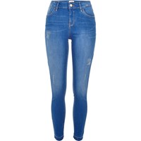 River Island Womens Bright Blue Wash Amelie Superskinny Jeans