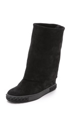 Casadei Fold Over Boots Black