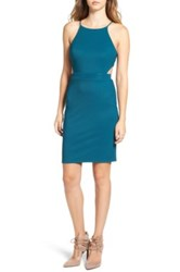Astr The Label Textured Cutout Body Con Dress Green