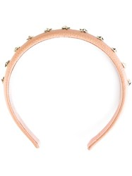 Red Valentino Studded Headband Pink Purple