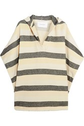 Solid And Striped The Beach Cape Basketweave Cotton Blend Poncho Cream