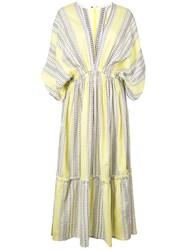Lemlem Amira Plunge Dress Yellow