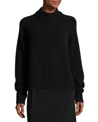 The Row Sephin Cashmere Mock Neck Sweater Black