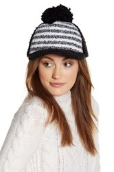 Cara Accessories Boucle Knit Fleece Ball Cap Black