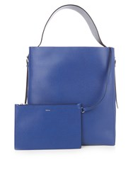 Valextra Saffiano Leather Tote Bag Blue