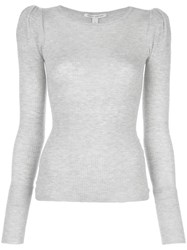 Autumn Cashmere Knitted Top Grey