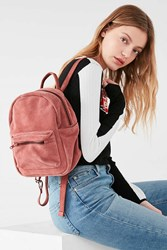 Urban Outfitters Mini Classic Suede Backpack Pink