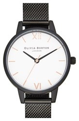Olivia Burton Women's Mesh Strap Watch 30Mm