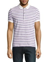 Strellson Peter Short Sleeve Cotton Polo Purple