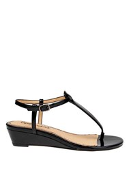 Splendid Justin T Strap Wedge Sandals Black