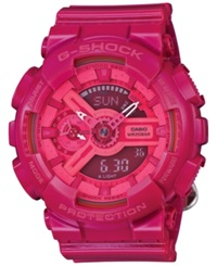 G Shock Women's Analog Digital Pink Resin Strap Watch 49X46mm Gmas110cc 4A