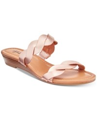 Styleandco. Style Co Wennde Slip On Wedge Sandals Created For Macy's Women's Shoes Rose Gold