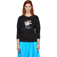 Kenzo Black Limited Edition Tiger Head Sweatshirt