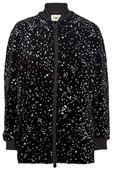 Fendi Paint Splattered Shearling Coat