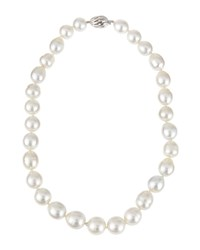Belpearl 14K Graduated White South Sea Pearl Necklace