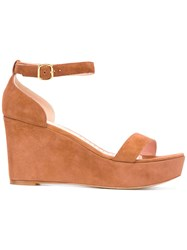 Rupert Sanderson Wedge Sandals Brown
