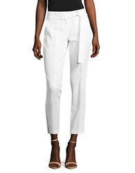 Michael Michael Kors Cropped Crepe Dress Pants White