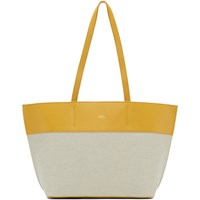 A.P.C. Yellow And Off White Small Totally Tote