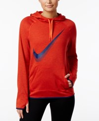 Nike Dry Logo Training Hoodie Max Orange Binary Blue