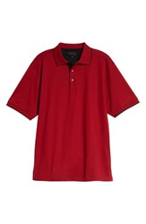 Bobby Jones Solid Tipped Polo Cranberry