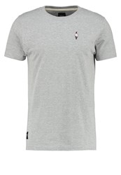 Wemoto Cream Print Tshirt Heather Light Grey
