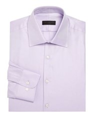 Ike Behar Micro Striped Shirt Lavender