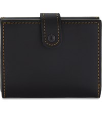 Coach Trifold Leather Wallet Bp Black