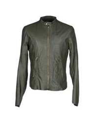 Vintage De Luxe Jackets Military Green