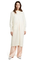 Temperley London Dawn Knit Cocoon Coat Ivory