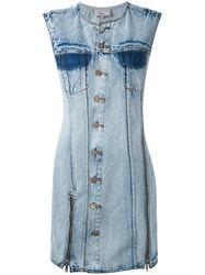 3.1 Phillip Lim Denim Shift Dress Women Cotton 2 Blue