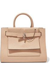 Carven Malher Textured Leather Tote Sand