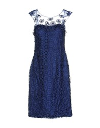 Musani Couture Short Dresses Dark Blue