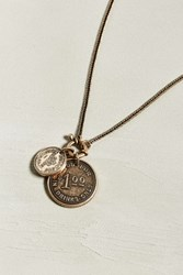 Urban Outfitters Uo Dollar Coin Necklace Gold