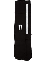 11 By Boris Bidjan Saberi Striped Socks Black