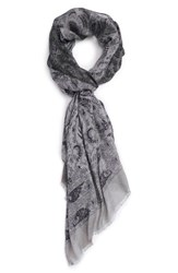 John Varvatos Men's Collection Paisley Crinkle Scarf