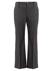 Balenciaga Kick Flare Stretch Wool Trousers Grey