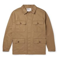 Margaret Howell Mhl Engineers Cotton And Linen Blend Twill Field Jacket Sand