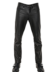 Givenchy 18Cm Slim Fit Nappa Leather Jeans Black