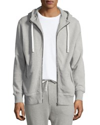 Iro Clevy Zip Front Knit Hoodie Gray
