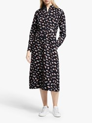 People Tree Piper Floral Shirt Dress Black