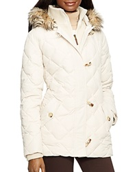 Lauren Ralph Lauren Quilted Toggle Puffer Jacket Moda Cream