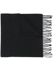 Givenchy Knitted Tassel Scarf Wool Black