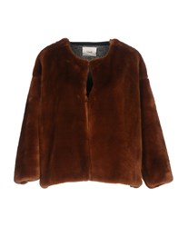 Suoli Coats And Jackets Faux Furs Brown