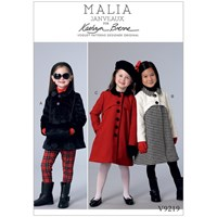 Vogue Children's Coats And Muff Sewing Pattern 9219