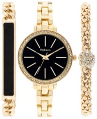 Styleandco. Style And Co. Women's Gold Tone Bracelet Watch Set 32Mm Sy001gbk Only At Macy's